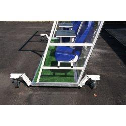 Wózek do transportu kabin dla zawodników rezerwowych