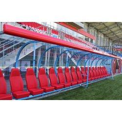 Osłona czołowa kabiny dla zawodników rezerwowych