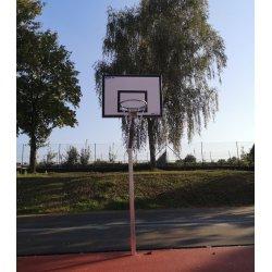 Zestaw do koszykówki jednosłupowy na boiska zewnętrzne z tablicą treningową 90x120 cm