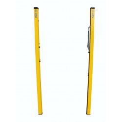 Stĺpy na plážový volejbal - oceľové žlté