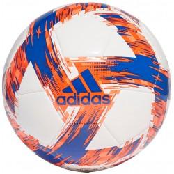 Piłka nożna Adidas Capitano Club, rozmiar 5, kolor biało-pomarańczowy