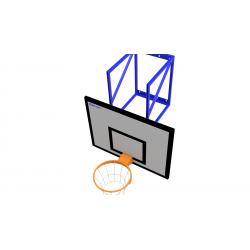 Basketbalová sada OPTIMUM s výškovým nastavením, doska 90x120 cm