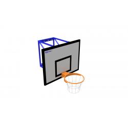 Basketbalová sada OPTIMUM pevná, doska 90x120 cm