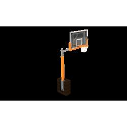 Basketbalová súprava s epoxidovou doskou 105x180 cm, jednostĺpová, trvale inštalovaná