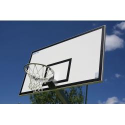 Tablica do koszykówki 105x180 cm, profesjonalna, epoksydowa, na ramie cynkowanej ogniowo