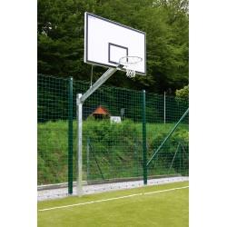Basketbalová exteriérová konštrukcia osadená v púzdrach s epoxidovou doskou 105x180 cm, jednostĺpová