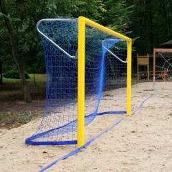 Siatka do bramki do piłki nożnej plażowej 5,50 x 2,20 m z obciążeniem 400 g, gr. splotu 4 mm PP