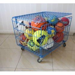 Wózek na piłki prętowy, przejezdny, zamykany