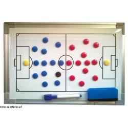 Tablica taktyczna do piłki nożnej, magnetyczna, 90 x 60 cm