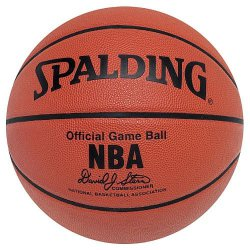 Spalding NBA Leather Game Ball - skórzana (rozmiar 7)