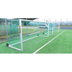 Bramki do piłki nożnej 5 x 2 m, aluminiowe, przejezdne
