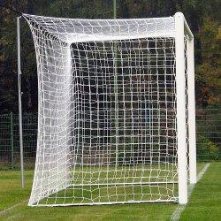 Siatka piłkarska polipropylenowa, 7,50 x 2,50 m, gr. sznurka 3 mm, gł. 200/200 cm