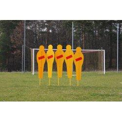 Mur treningowy stały do piłki nożnej (złożony z 5 postaci)