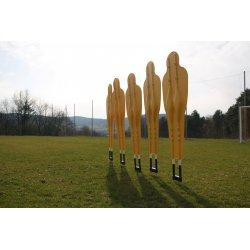 Mur treningowy uchylny do piłki nożnej (złożony z 5 postaci)