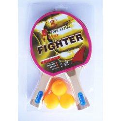 Zestaw do tenisa stołowego Sport Plus Fighter (2 rakietki + 3 piłeczki)