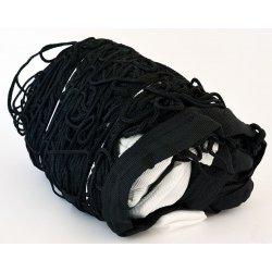 Siatka do tenisa czarna (poliester, grubość sznurka 4 mm)