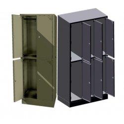 Szafa ubraniowo-skrytkowa 6-drzwiowa, z ławką (SML-90-6S)