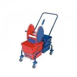 Wózek do sprzątania podwójny, malowany