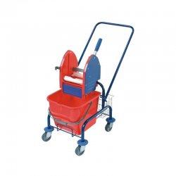 Wózek do sprzątania pojedynczy, malowany