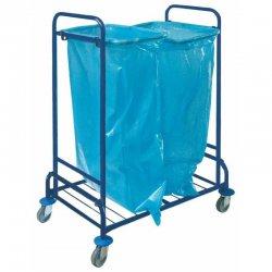 Wózek na odpady podwójny, malowany (2 worki 120 l)