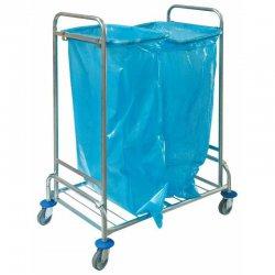 Wózek na odpady podwójny, ocynkowany (2 worki 120 l)
