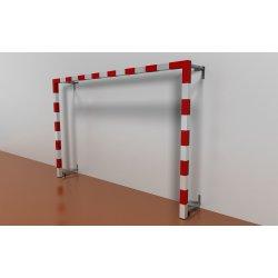 Bramki do piłki ręcznej 3x2 m, przyścienne, składane w bok