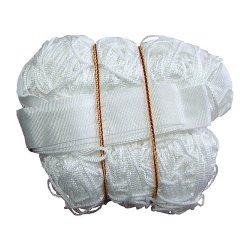 Sieť na volejbal, biela, vrátane antén