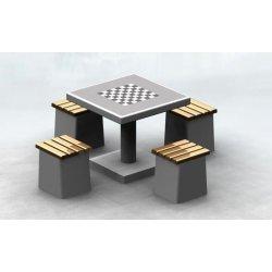 Betonowy stół do gry w szachy lub chińczyka
