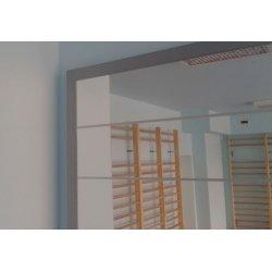 Lustro korekcyjne z siatką posturograficzną, przyścienne, z pojedynczą poręczą