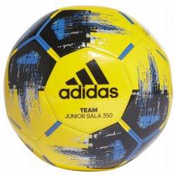 Piłka halowa Adidas Team Junior Sala 350, rozmiar 4, kolor żółto-niebiesko-czarna