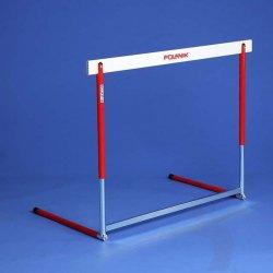 Atletická prekážka hliníkovo-oceľová, nastaviteľná, 6 polôh (686-1067 mm)