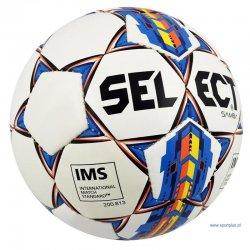Piłka nożna Select Samba IMS, rozmiar 5, kolor biało-niebieska