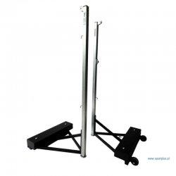 Stojaki do badmintona profesjonalne przejezdne na kółkach, z obciążeniem regulowanym 30/60/90 kg