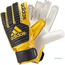 Rękawice bramkarskie Adidas Classic Junior, kolor żółto czarny (rozmiar 8)