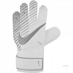 Rękawice bramkarskie Nike GR jr Match, kolor biało-srebrne (rozmiar 4) NIKE