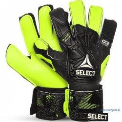 Rękawice bramkarskie Select Youth, kolor czarno-żółto neonowe (rozmiar 3)