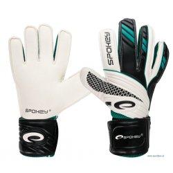 Rękawice bramkarskie Spokey Force 838076, kolor biało-czarno-zielony ( rozmiar 7)