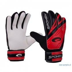 Rękawice bramkarskie Spokey Hold 838054, kolor czerwono-czarny (rozmiar 5)