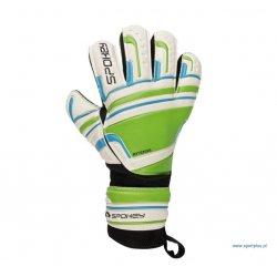 Rękawice bramkarskie Spokey Intens 838046, kolor zielony (rozmiar 5)