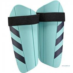 Ochraniacz piłkarski Adidas Ghost Lite, kolor turkusowy (rozmiar L)