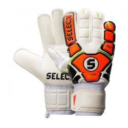 Rękawice bramkarskie Select 22 Flexi Grip, kolor biało-pomarańczowy (rozmiar 7)