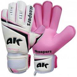 Rękawice bramkarskie 4Keepers Protect Women RF, kolor biało-różowy (rozmiar 4)