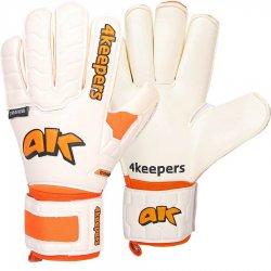 Rękawice bramkarskie 4Keepers Champ Training IV Roll Finger, kolor biało-pomarańczowy (rozmiar 10)