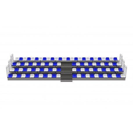 Trybuna zsuwana teleskopowo - siedziska plastikowe